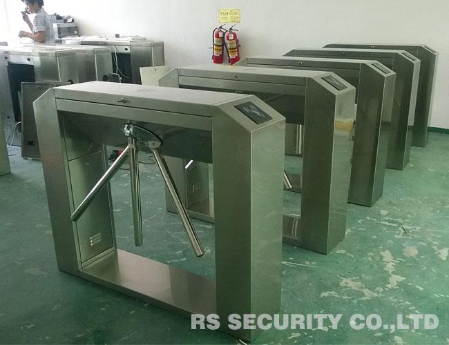 Semi Electronic Waist Height Turnstiles Infrared Control With RS485