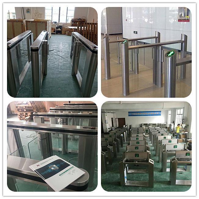 Servo Driver Slim Automated Security Gates / Train Station Turnstile Security Systems