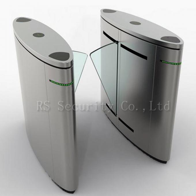 Optical subway turnstile barrier flap and speed