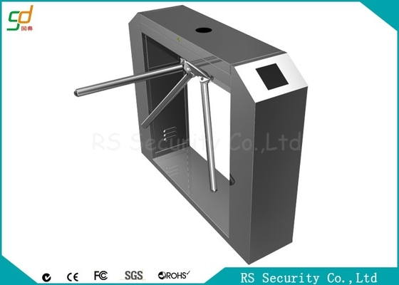 China Fingerprint Aesthetic Waist Height Turnstiles Two Access Controllers supplier