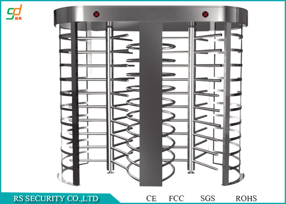 China Double Lanes Rotating Full Height Turnstiles Turnstyle Gates CE Approved supplier