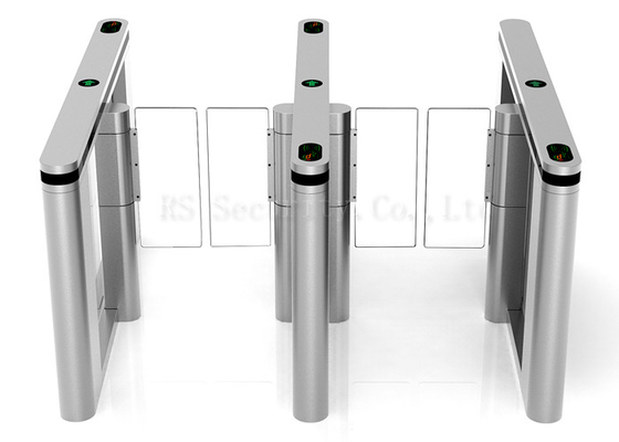 RS Security Swing Barrier Gate Card Access Turnstile Gate With Servo Motor