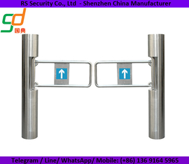 China Supermarket Visitors Control Swing Barrier Gate , Swing Arm Barrier With Sensors supplier