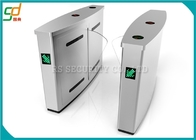 China Stainless Steel Flap Barrier Gate Turnstile, Half Height Turnstiles Access Control factory