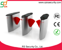China Access Control Flap Barrier Gate, Barcode RFID Reader Turnstile System factory