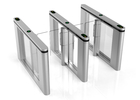 Glass Lane High Speed Flap Barrier Gate With 10 Pairs IR Sensors