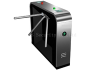 China Pedestrian Biometric Fixed Arm Tripod Turnstile Gate For Security , Black Color factory