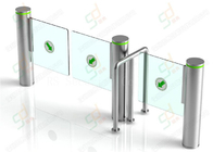 China Stainless Steel Airport Bi - Folding Swing Barrier Gate For Weelchair factory