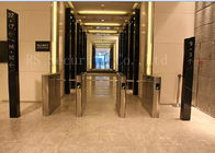 China Office Access Drop Arm Barrier , Biometric Construction Site Access Control Turnstiles factory