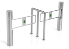 China High Security Automatic Stainless Steel Supermarket Swing Gate Turnstile factory