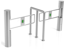 China 304 Stainless Steel Swing Barrier Gate Compatic IC ID Cards IR Sensor Turnstile factory