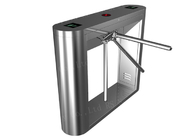 China Secured Entry Waist High Tripod Gate Controlled Access 304 Stainless Steel factory