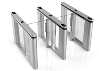 China Outdoor Physical Access Systems Glass Turnstile Half Height With Servo Driver factory