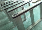 China Walking Through Subway Entry And Exit Gate, Servo Driver Turn Stile Speed Gate factory