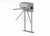 Biometric Half Height Turnstile Security Systems / Vertical Tripod Turnstile Gate