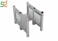 China Building  Supermarket Swing Gate Servo Motor Glass Turnstile With RFID Reader factory