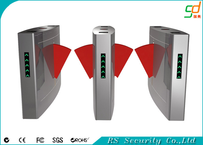 Automatic Card Reader ~ Retractable turnstile entry systems card reader flap