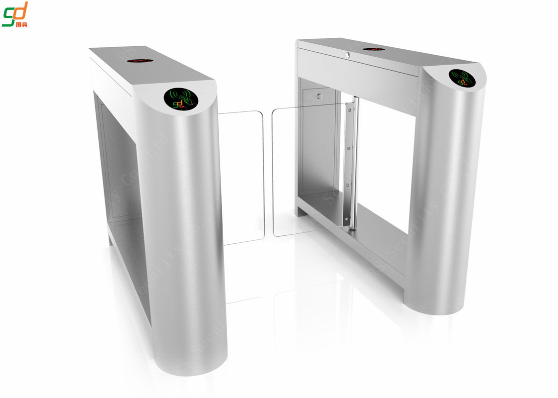 Luxury RFID Automatic Systems Turnstiles High Speed 304 Or 316 Stainless Steel