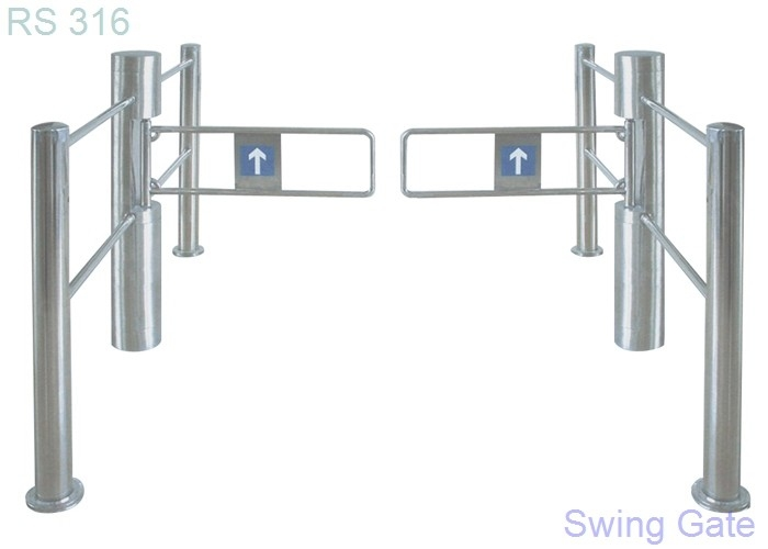 China electric pedestrian access swing barrier arm gates