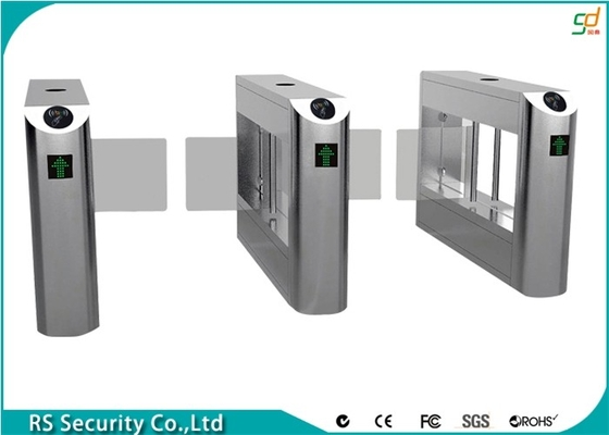 Luxury Bidirectional Swing Barrier Gate With RS485 Interface Entrance RFID Reader
