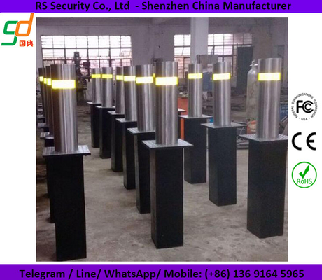 IP68 Car Parking Automatic Security Bollards With Loop Detectors