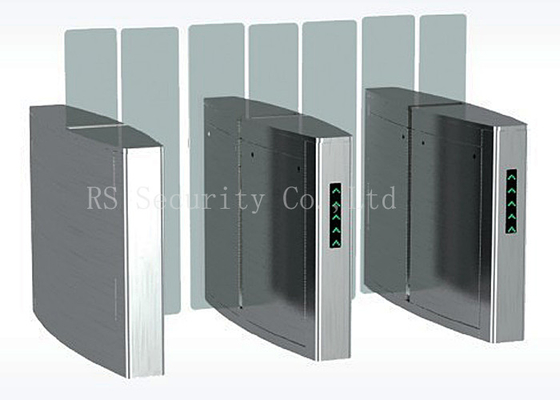 Full Height Simple Fast Outdoor Turnstile Security Gates Acrylic Or Soft Arm