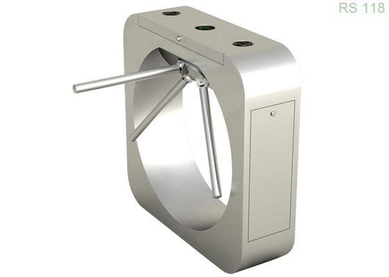 Silver Waist Height Turnstile Security Systems 550mm For Outdoor