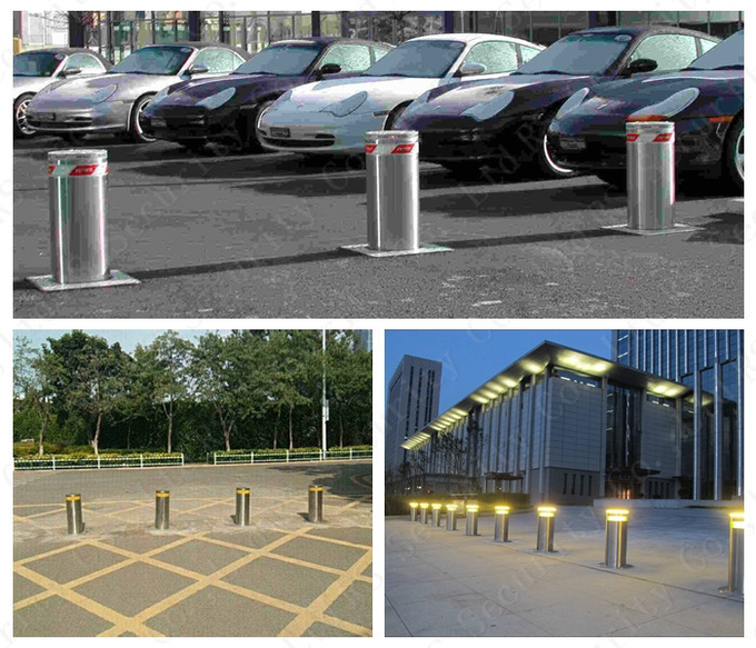 K8 Rated Rising Hydraulic Bollards Traffic Barrier Access Controller