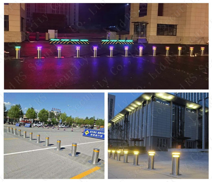 K12 Rated Security Hydraulic Bollards Traffic Barriers For Vehicle Access